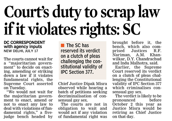 The Supreme Court Asserted That Courts Cannot Wait For A Majoritarian Government To Decide On Enacting Amending Or Legal Services Legal Advice Decision Making