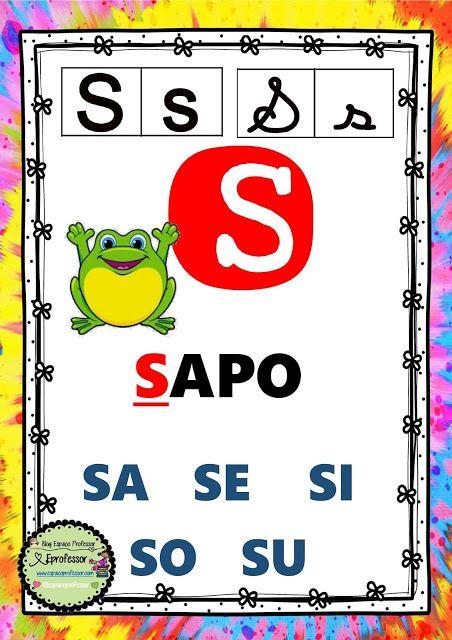 Alfabeto De Parede Formato A3 Com Os 4 Tipos De Letras Desenhos E