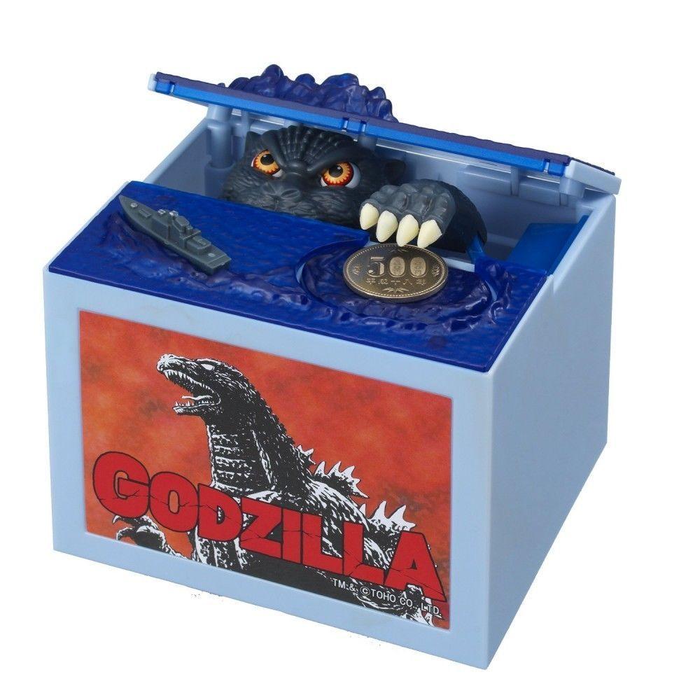 Godzilla Bank Piggy Bank with Light-emitting /& Sound Gimmick TOHO Japan F//S New