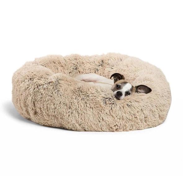 Calming Shag Fur Cuddler Dog Bed With Images Cool Dog Beds