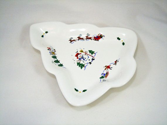 SALE Pfaltzgraff Candy Dish Holiday Decor by RichardsRarityRealm
