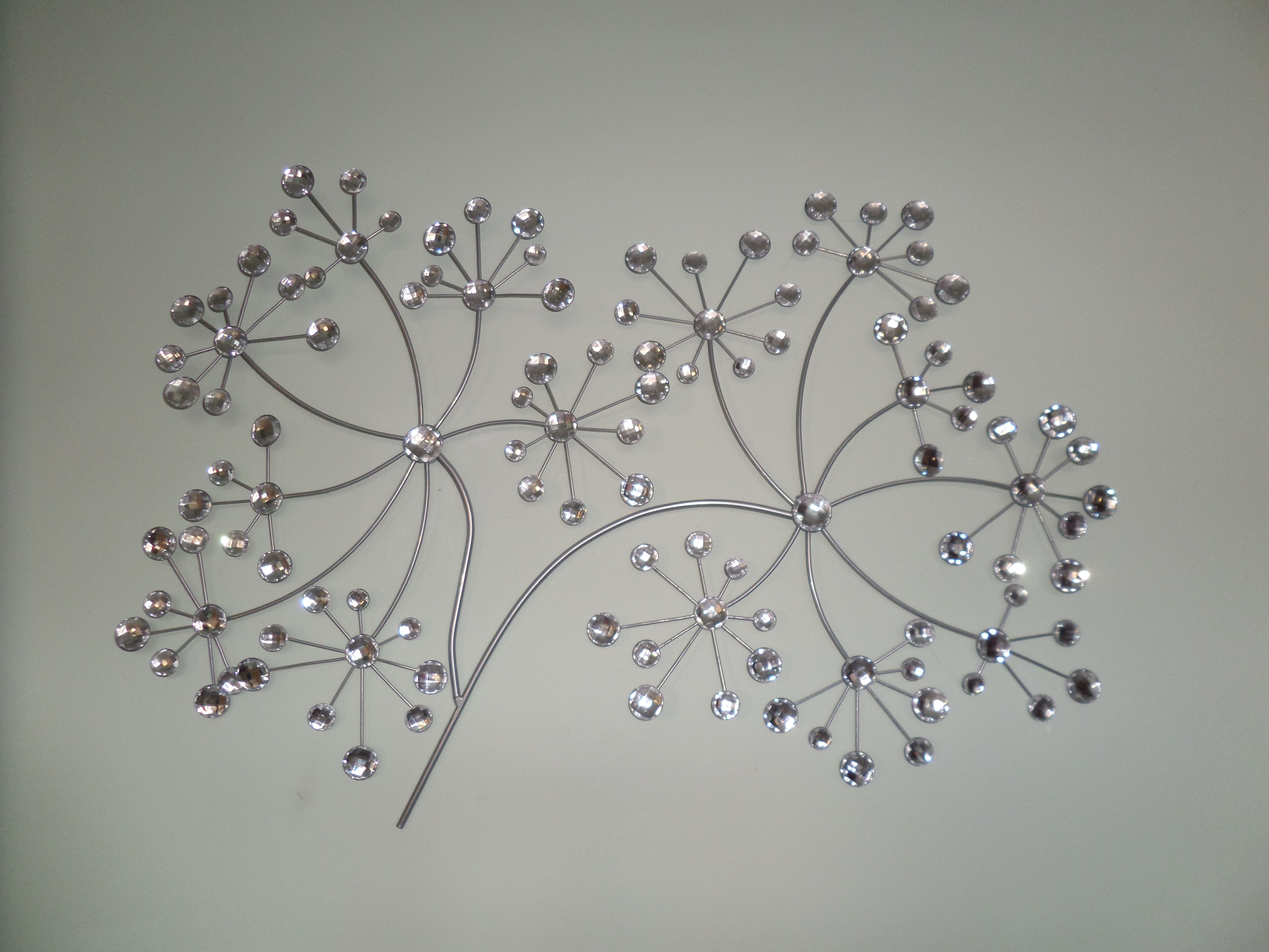 Sparkly silver wall art for my bedroom seed head from the range against dulux willow