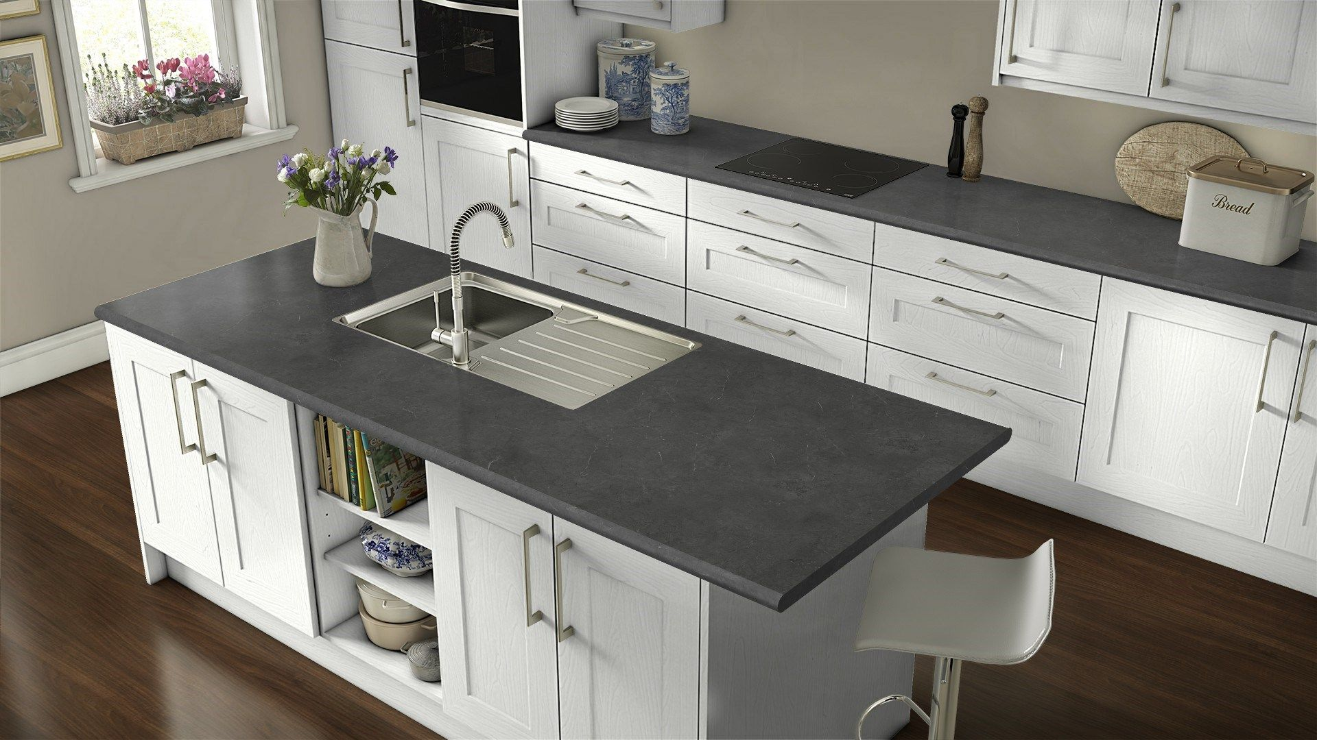 Wilsonart Black Alicante Laminate Countertops Kitchen
