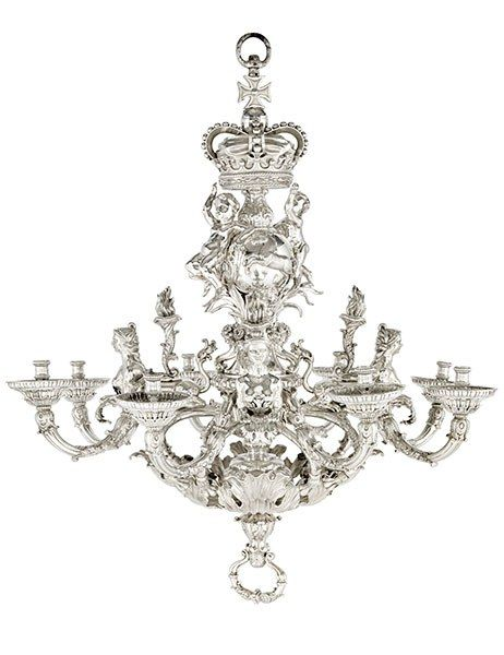 The Most Expensive Antique Chandeliers Sold At Auction Silver Antique Chandelier Chandelier