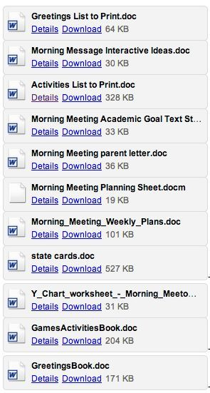 FREE full length resources for The Morning Meeting Hundreds of - meeting list template