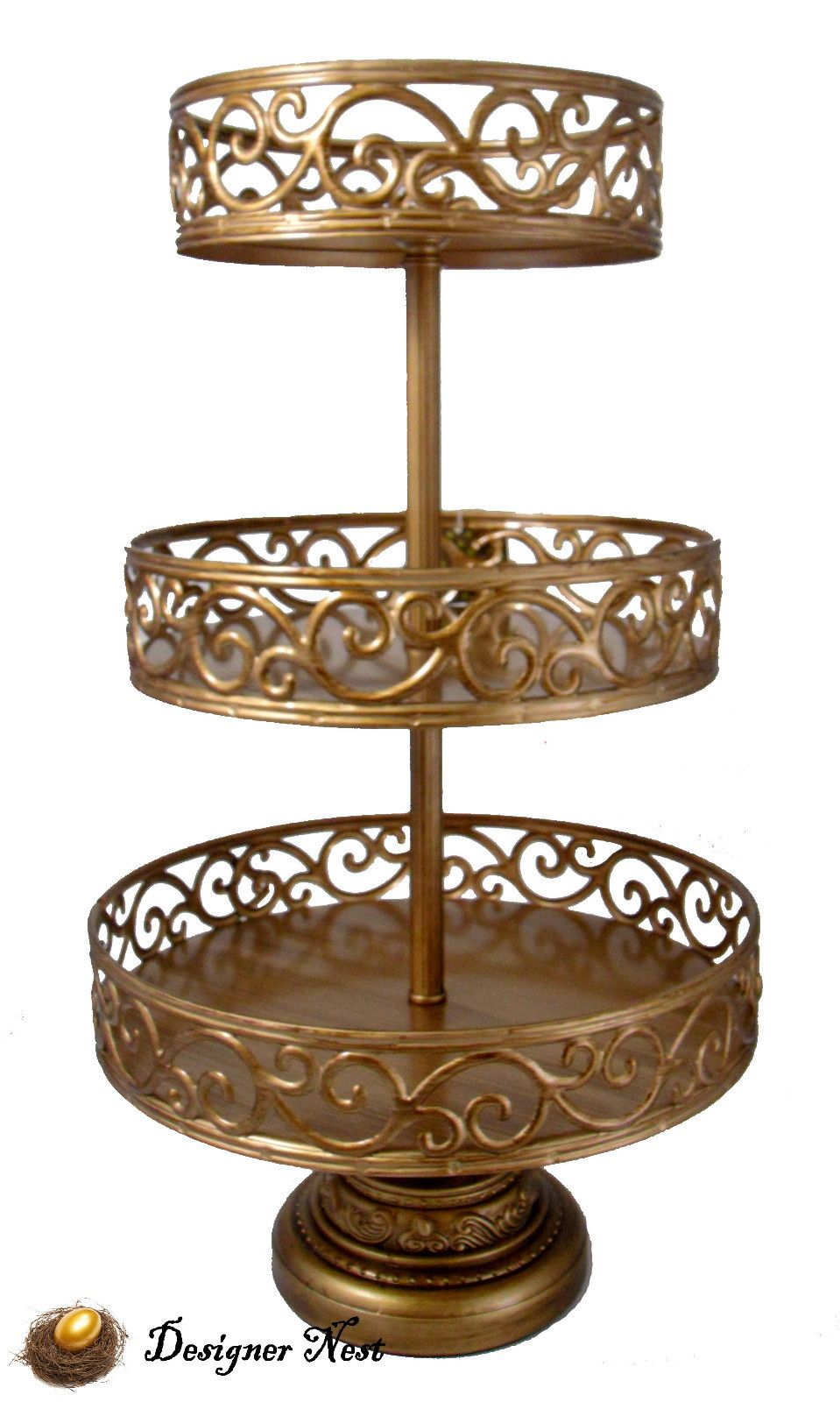 metal cake stand gold vintage style cake pedestal cupcake stand 3 tier 5843
