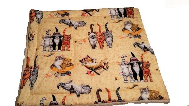 Sherpa Cat Blanket, catnip blanket, catnip toy, cat toy, plush blanket by CherylAnnsPets on Etsy