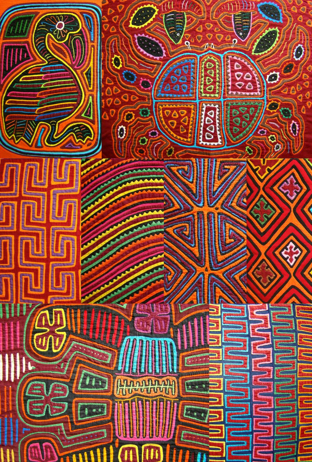 mola application | Kuna of Panama | Reverse applique, Fabric