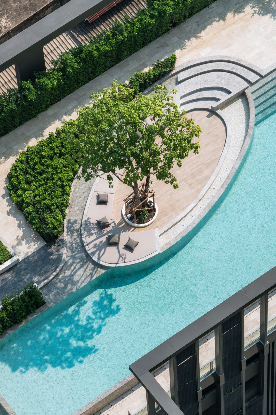 The Line Wongsawang By Sansiri Pool Landscape Design Landscape Design Swimming Pool Designs
