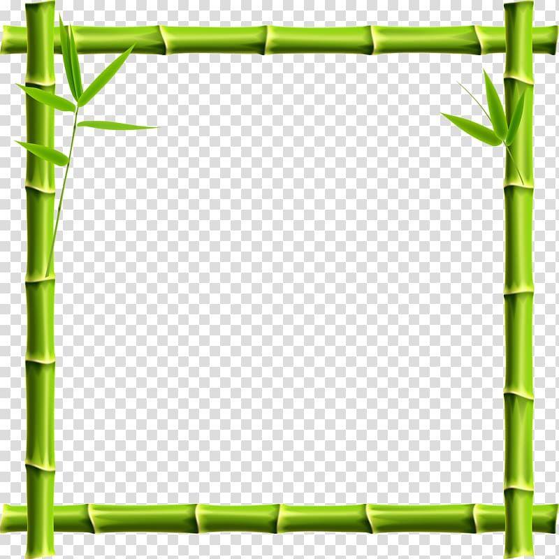 Green Bamboo Border Giant Panda Frame Bamboo Bamboo Border Transparent Background Png Clipart Transparent Background Clip Art Transparent
