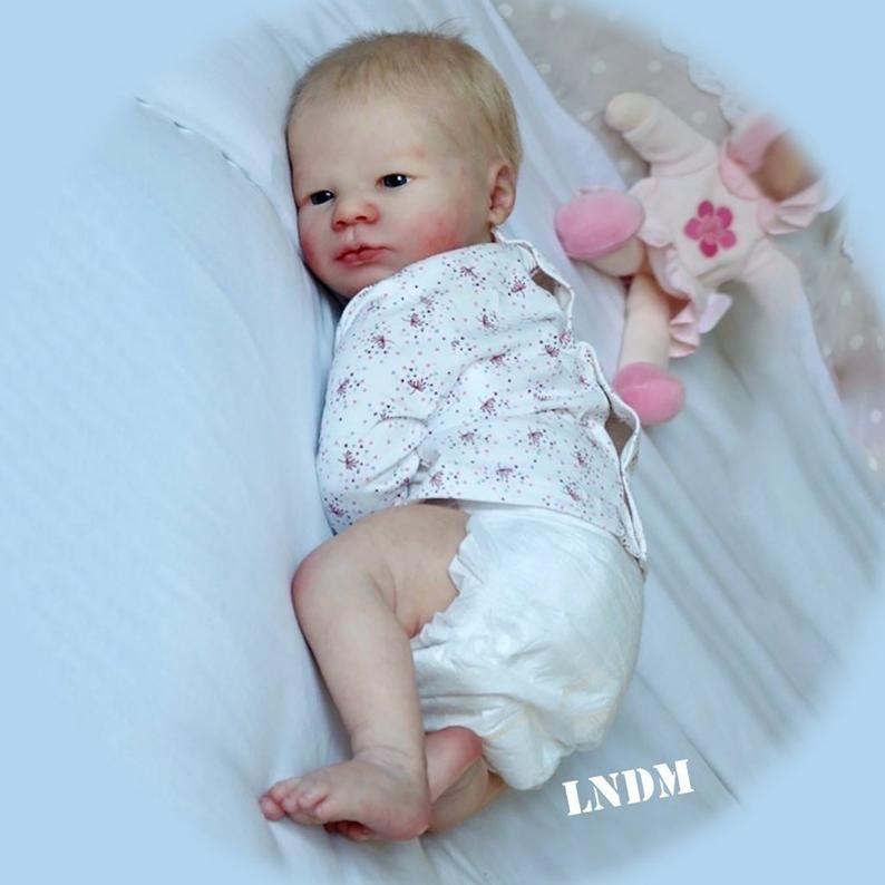Custom Realborn Lavender Awake 19 Inches Full Limbs 6 8 Etsy Reborn Doll Kits Reborn Dolls Free Baby Stuff