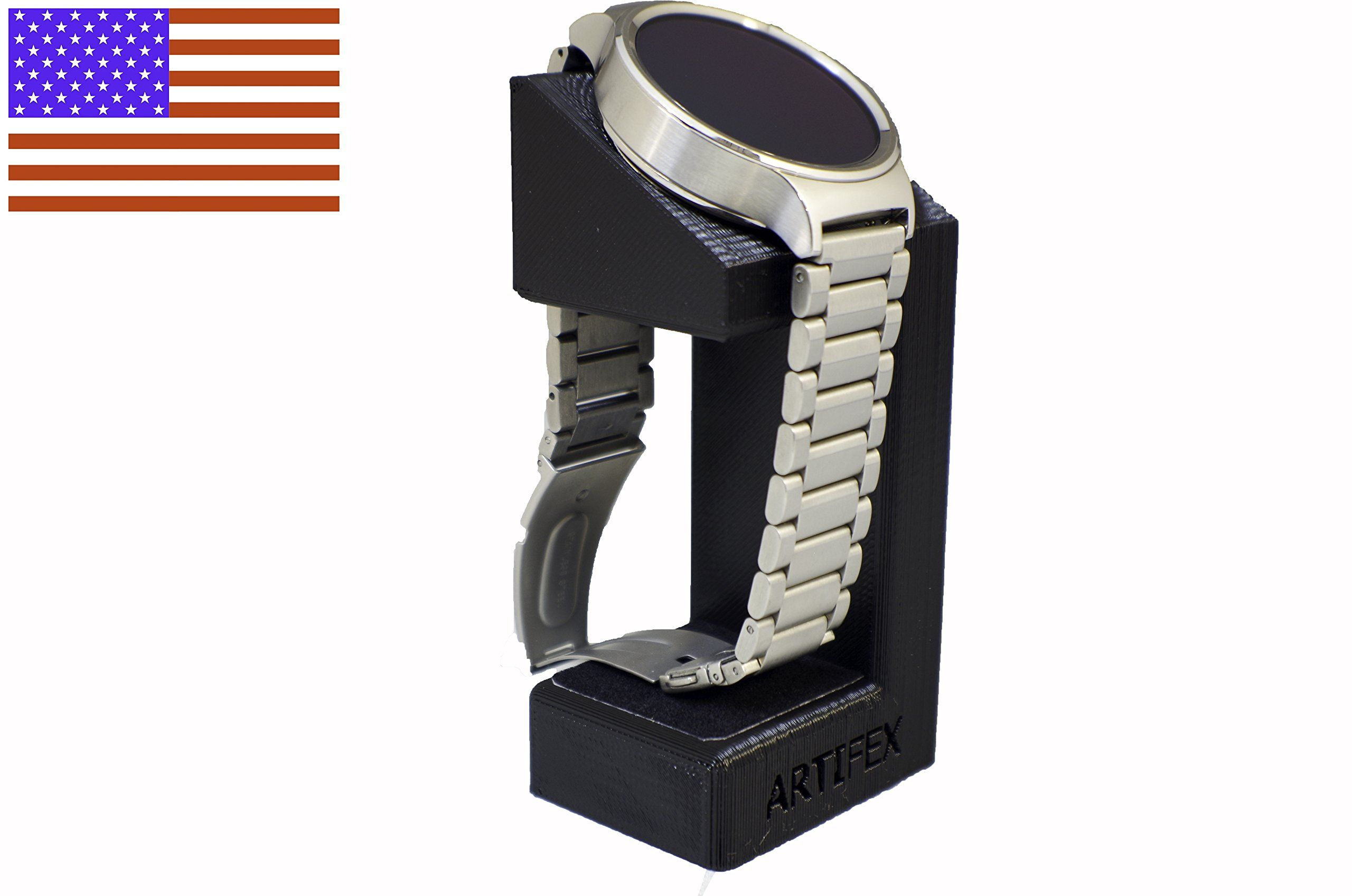 Huawei Watch Stand Artifex Charging Dock Stand For Huawei Watch New 3d Printed Technology Smartwatch Cradle Black Huawei Watch Watch Stand Charging Dock