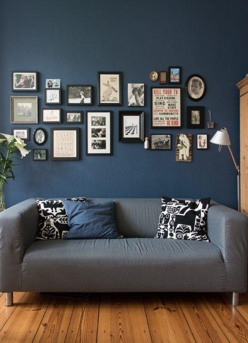 oder wie unsere Wohnküche eine dunkelblaue Wand bekam | Dream House ...
