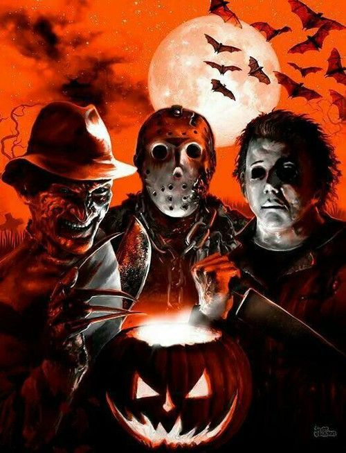 Classic Halloween Movie Characters Freddy, Jason, Michael