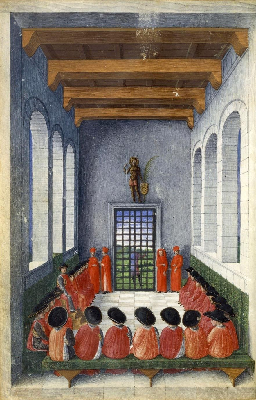 congress of the order of the crescent . giovanni bellini . 1453 . bibliothèque de l'arsenal . paris