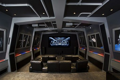 Star Wars Themed Home Cinema Video Game Rooms Star Wars Man Cave Video Game Room
