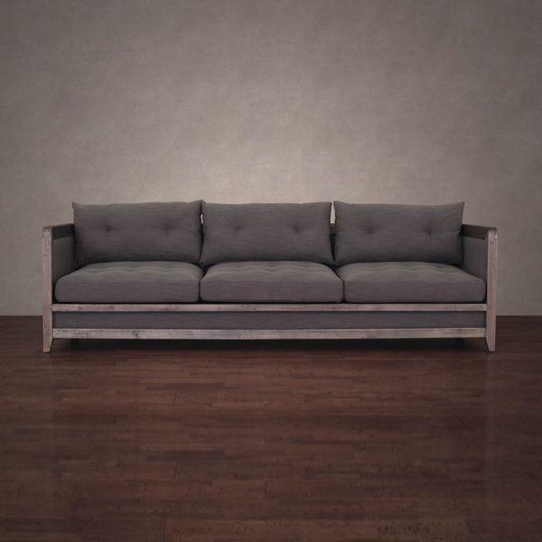 Sofa Deals Online: Creston 94-inch Smoke Linen Sofa