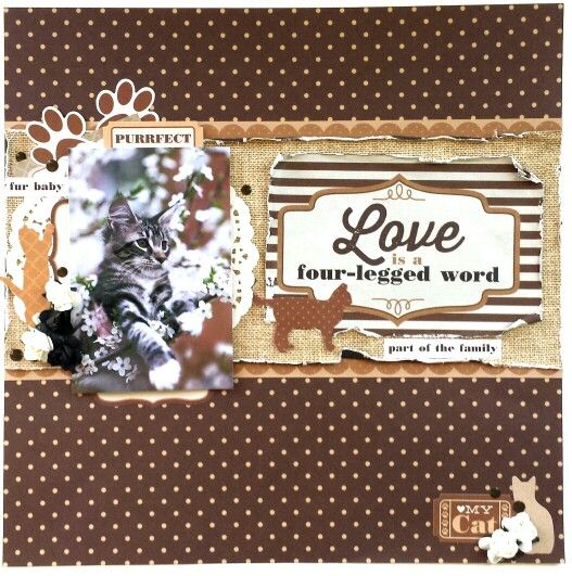 Kaisercraft : Furry Friends Collection : Love Layout by Amanda Baldwin