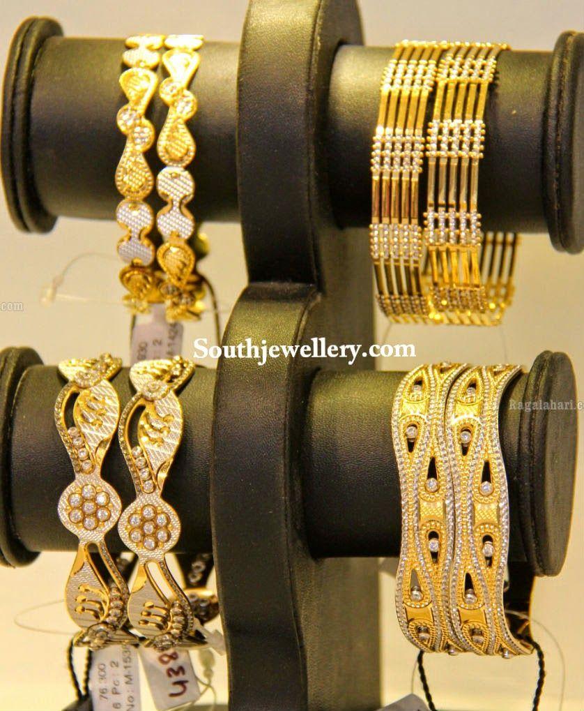 two tone gold bangles | jewellery | Pinterest | Gold bangles ...