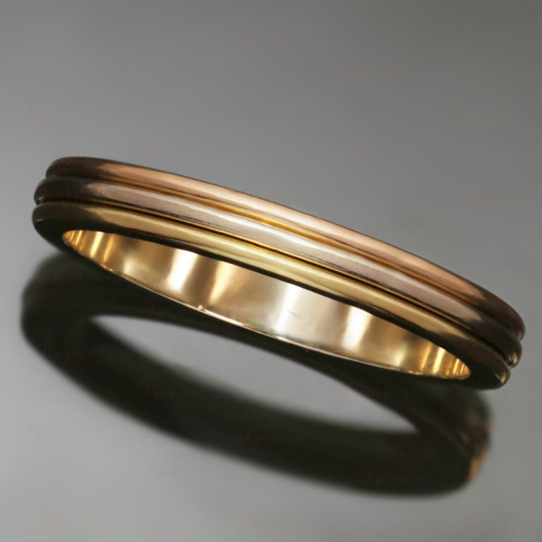 CARTIER Tri-Gold Size 58 Wedding Band Ring | $1,090