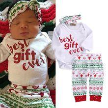 a0827e3229f04 Wholesale Newborn Baby Girls Boys Reindeer Snowflake Long sleeve ...