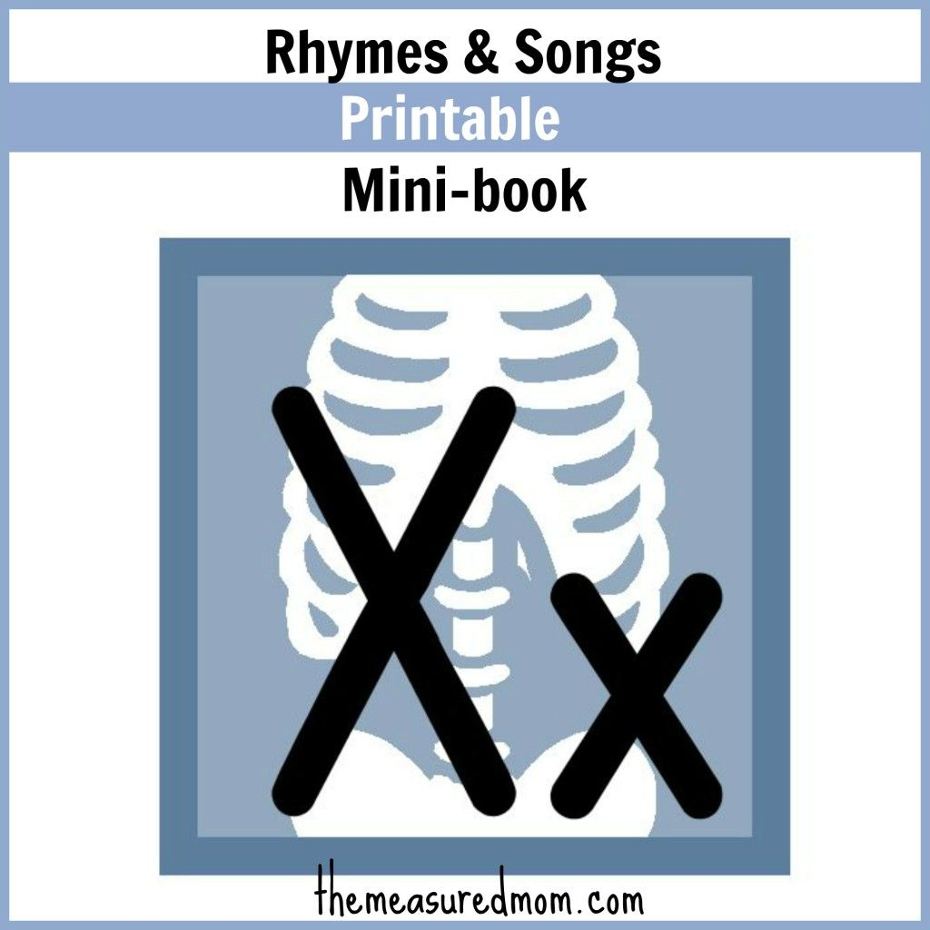 Rhymes For Letter X Little Letter X Book