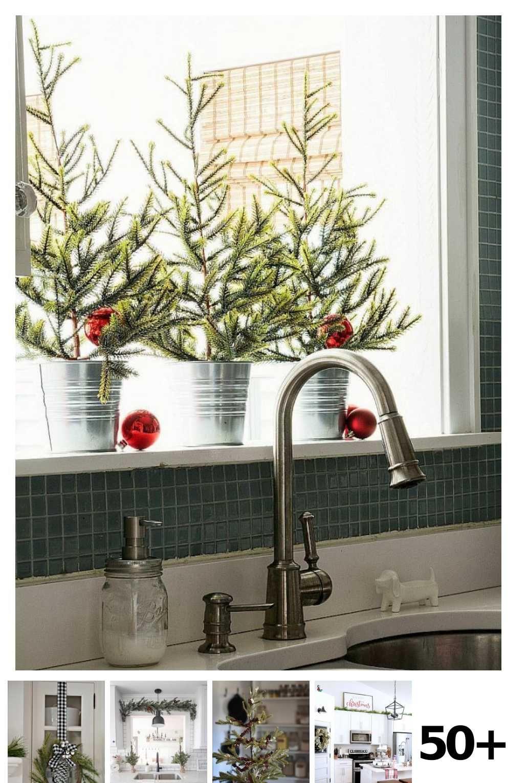 50 Farmhouse Christmas Kitchen Ideas In 2020 Christmas Kitchen Decor Diy Christmas Kitchen Christmas Bathroom Decor