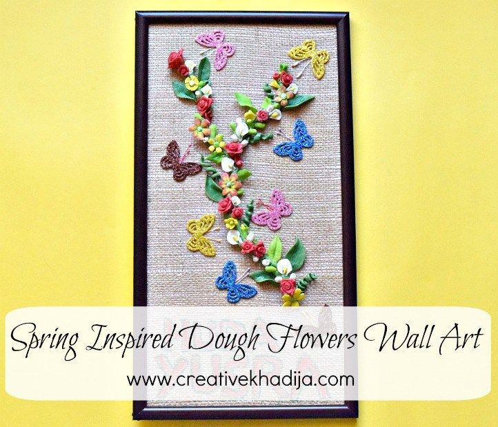 Spring Inspired Wall Art Making with Dough Flowers | Burlap ...