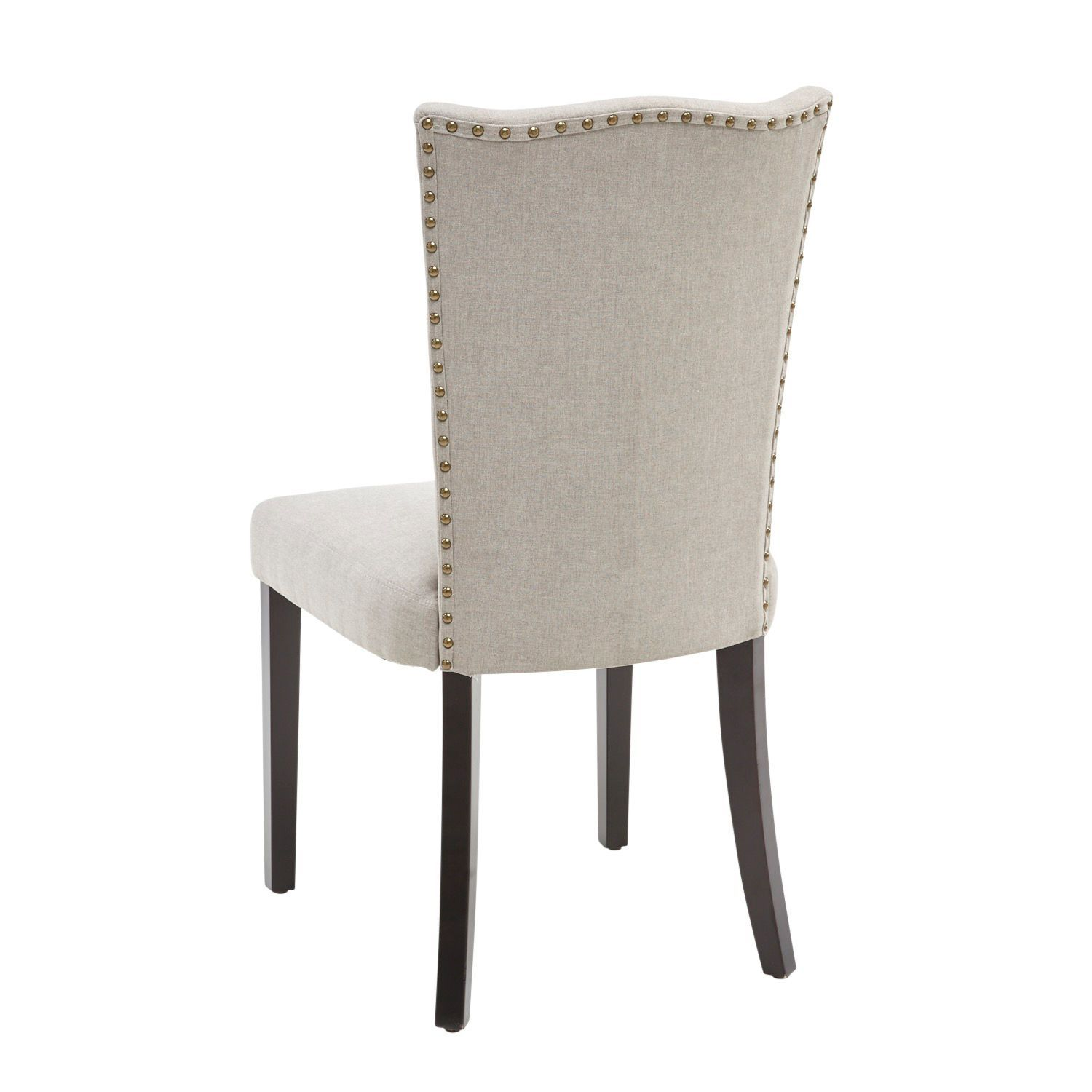 Gray Nailhead Back Dining Chair Dining Chairs Chair Dining