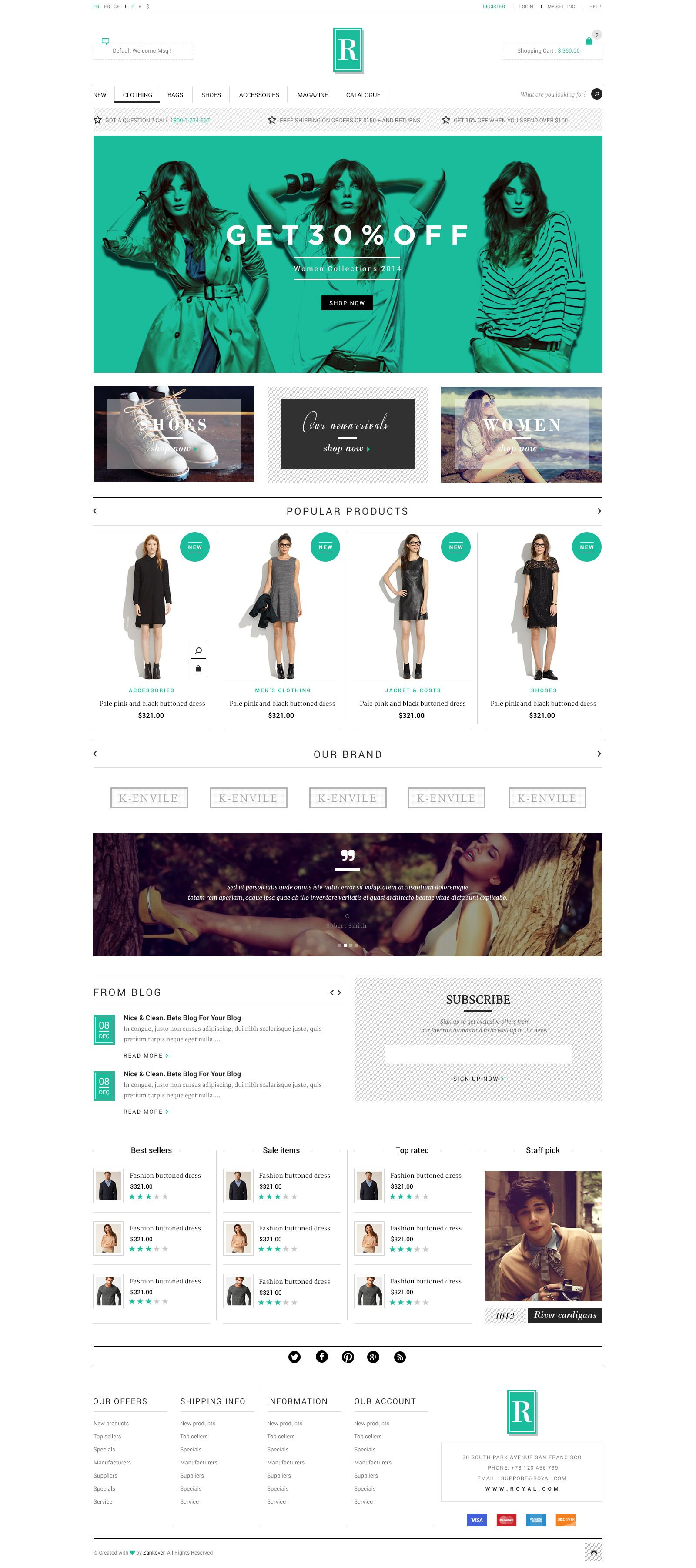 Royal PSD Template Commerce, Royal, Template