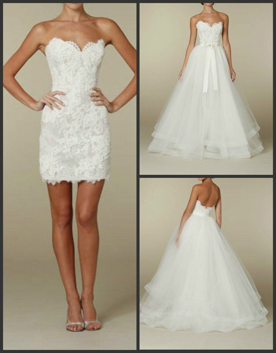 Click to Buy ucuc Sweetheart Lace Wedding Dress Bridal Dresses