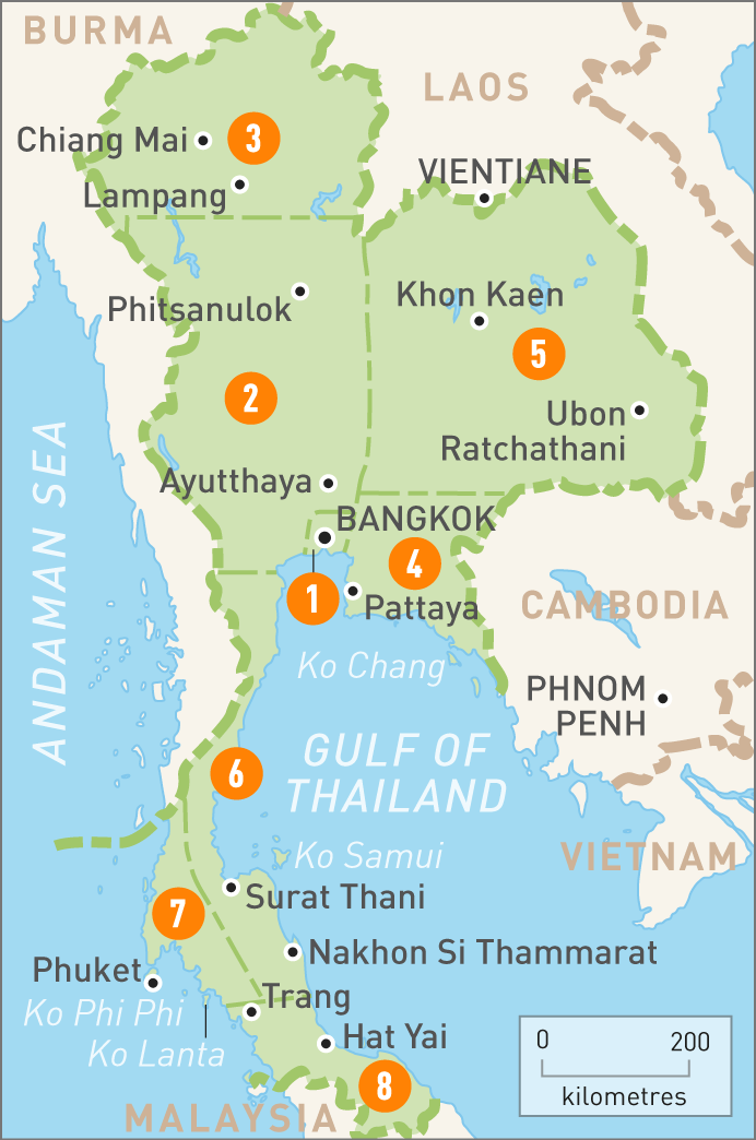 Map of Thailand | Geography | Pinterest | Travel maps, Asia and Explore