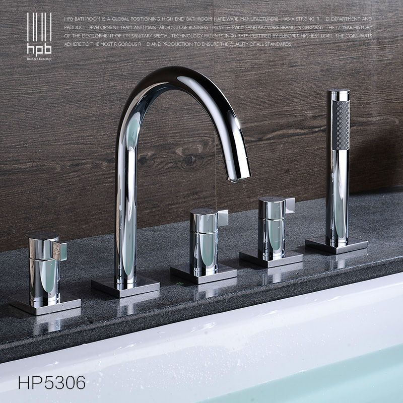 HPB Brass Hot and Cold Water Bathroom Shower Faucet Deck Mounted ...
