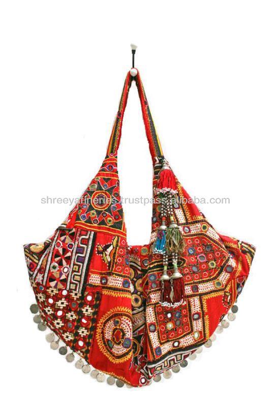 elegant textil fest retro väska