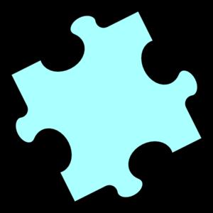 Cyan Puzzle Piece Clip Art Puzzle Piece Template Clip Art Puzzle Pieces