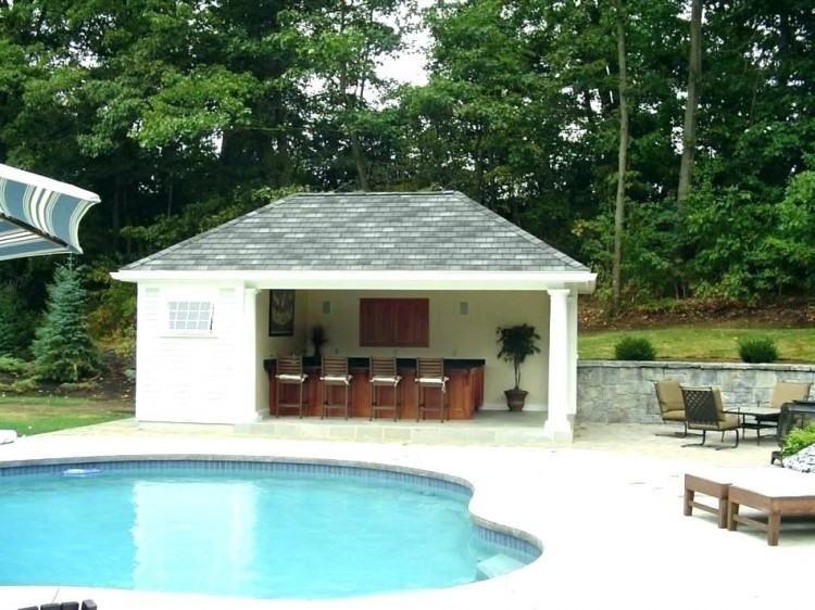 Simple Pool House Design Pool House Designs Backyard House Simple Pool