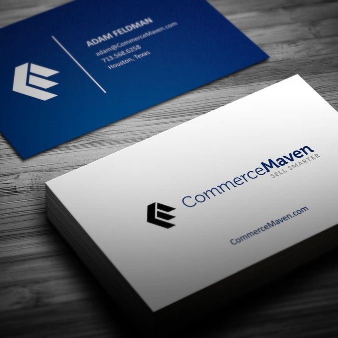 Create A Logo And Business Card For A New Ecommerce Technology Company Commercemaven Log Business Card Logo Business Card Design Professional Business Cards