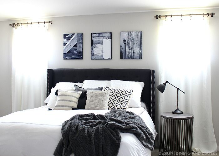 Black And White Master Bedroom Updates Giveaway Master Bedroom Bedrooms And Dining