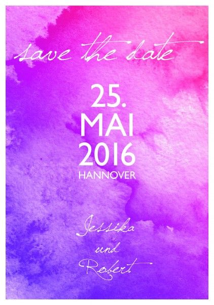Save-the-Date – Aquarell Pink