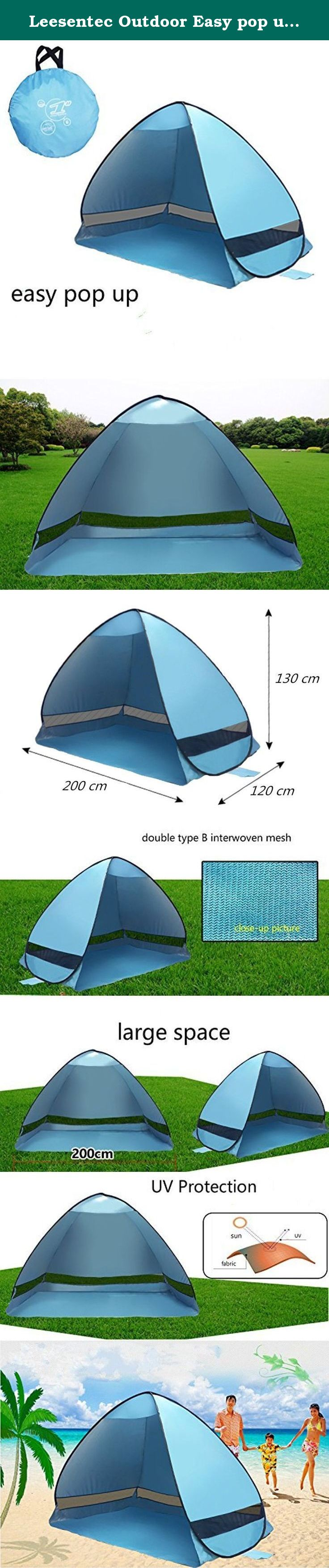 Leesentec Outdoor Easy pop up Beach Tent Portable Cabana Sun Shade Protective Anti Uv Sport Shelter  sc 1 st  Pinterest : folding pop up beach tent - memphite.com