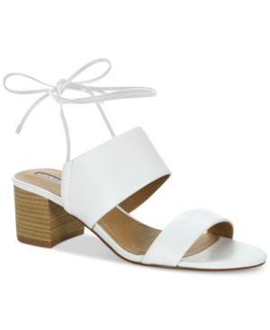 5e5cd3f2a1f Tahari Doe Lace-Up Sandals - White 5.5M