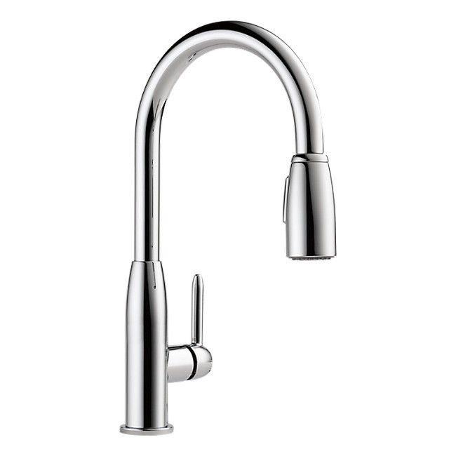 Delta Faucets Peerless Apex Single Hole Kitchen Faucet Plf Chrome Grey Chrome
