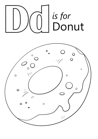 Donut Coloring Pages Best Coloring Pages For Kids Alphabet Coloring Pages Donut Coloring Page Abc Coloring Pages