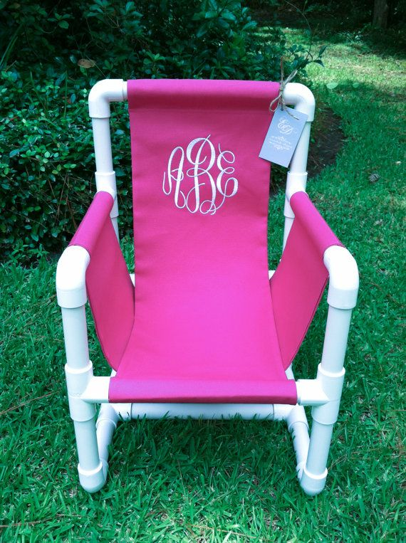 Monogrammed Pvc Toddler Chair Canvas Cover By