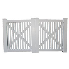 Boundary 4 Ft X 10 Ft White Picket Drive Vinyl Fence Gate Vinyl Fence Lowes Home Improvements Fence Gate