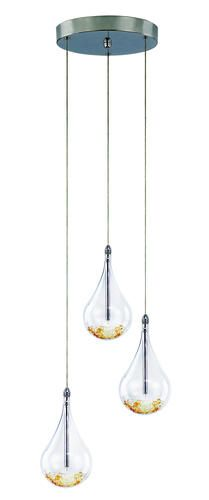 Patriot Lighting Elegant Home Teardrop 3 Light 80 Pendant