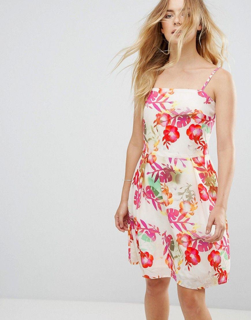 Lavand Vestido con tiras y diseño floral de Lavand MjgBX