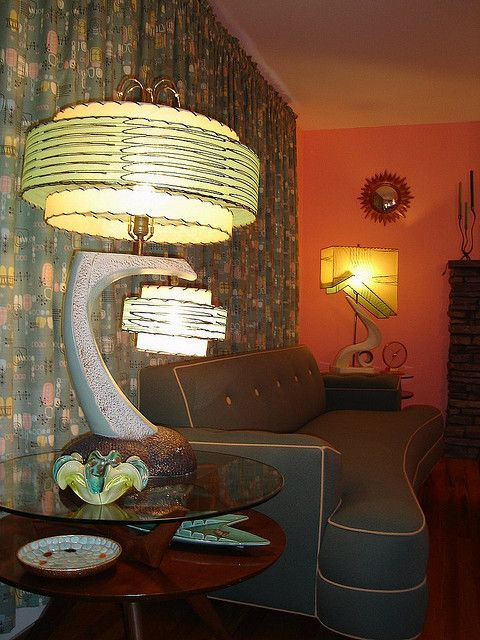 1950 S Continental Lamp With Two Double Lamp Shades Mid Century Lamp Mid Century Modern Lamps Retro Lamp