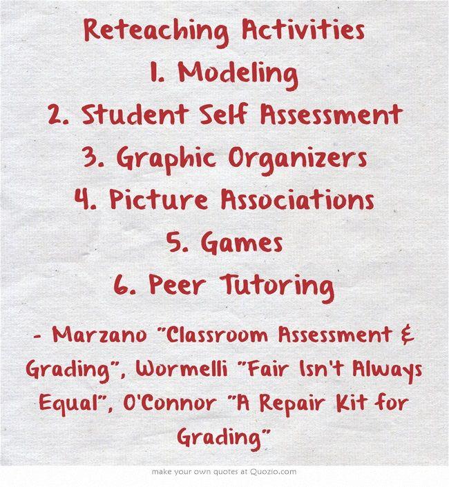 A List Of  Simple Reteaching Ideas  Teaching Strategies