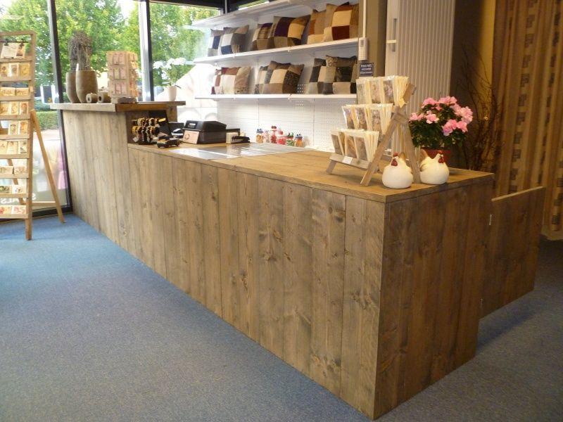 Vinyl Steigerhout Look : Balie toonbank steigerhout oficina galpón pinterest salons